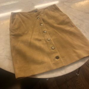 Anine Bing tan suede short skirt